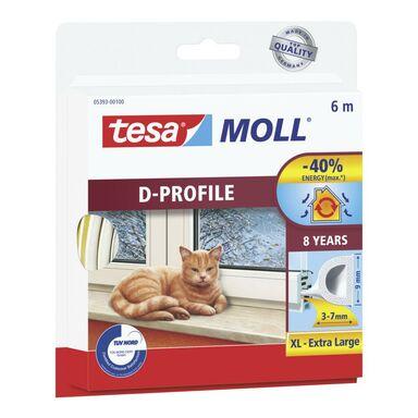 Uszczelka do drzwi i okien MOLL Profil D 6 m biała TESA