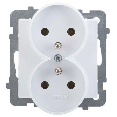 Gniazdo podwójne 2 x 2P + Z SONATA  biały  OSPEL