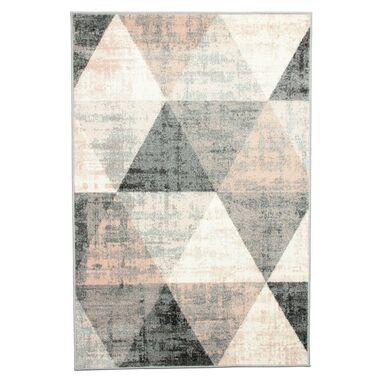 Dywan Pastel Trójkąty szary 120 x 170 cm
