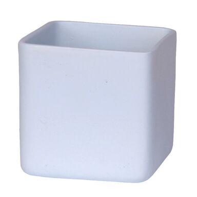 Osłonka ceramiczna 13,5 x 13,5 cm błękitna HORTI