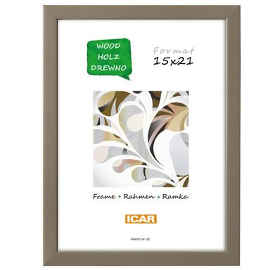Ramka na zdjęcia Pinia 15 x 21 cm kawowa drewniana