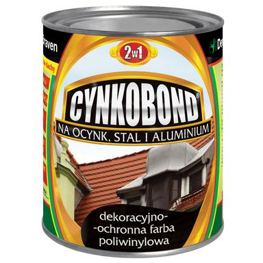 Farba na dach poliwinylowa CYNKOBOND 0.8 l Brązowy DEN BRAVEN