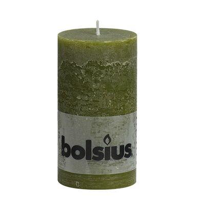 Świeca pieńkowa RUSTIC oliwkowa wys. 13 cm BOLSIUS