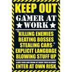 Plakat GAMING KEEP OUT 61 x 91.5 cm