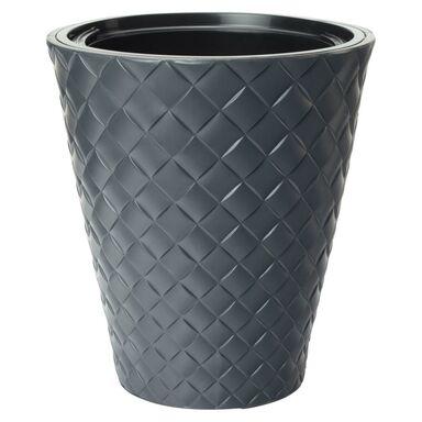 Doniczka plastikowa 29.5 cm antracytowa MAKATA