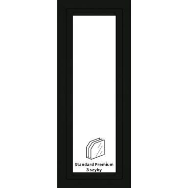 Okno PCV 3-szybowe O27 Antracyt 565 x 1435 mm