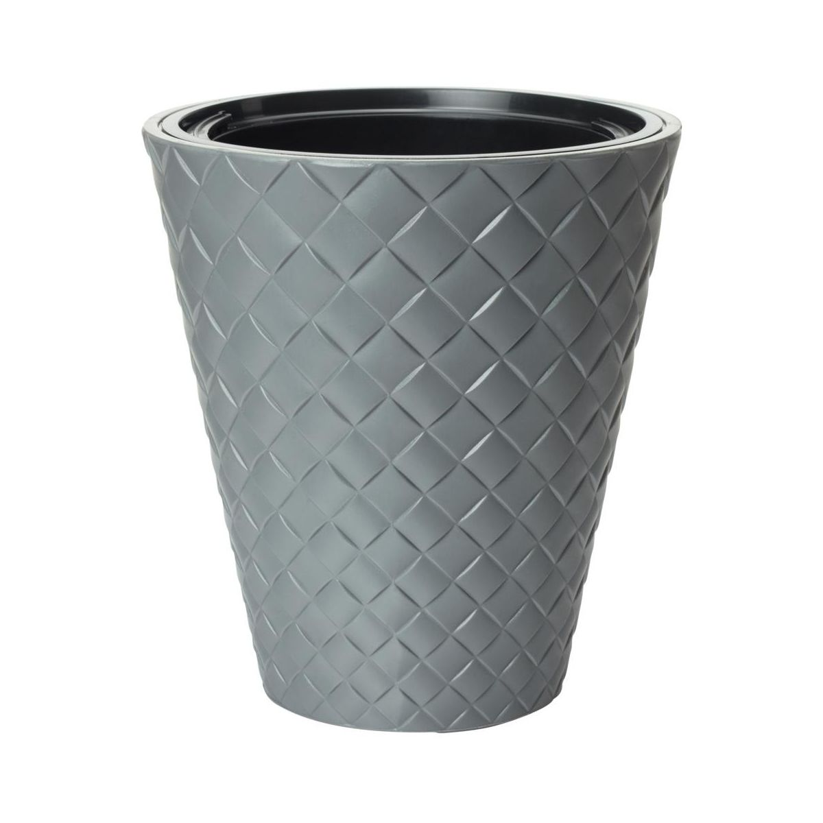 Doniczka plastikowa 29.5 cm szara MAKATA