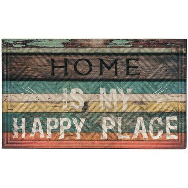 Wycieraczka wewnętrzna HAPPY PLACE 75 x 45 cm gumowa