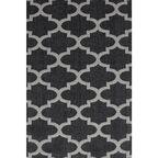 Dywan bawełniany Mersin czarny 153 x 220 cm