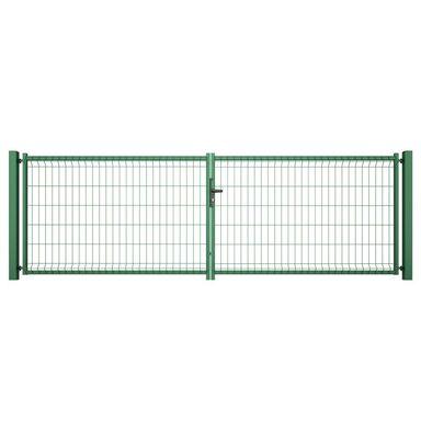Brama dwuskrzydłowa VERA 400 x 123 cm zielona WIŚNIOWSKI