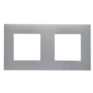 Ramka podwójna  Aluminium  EFAPEL