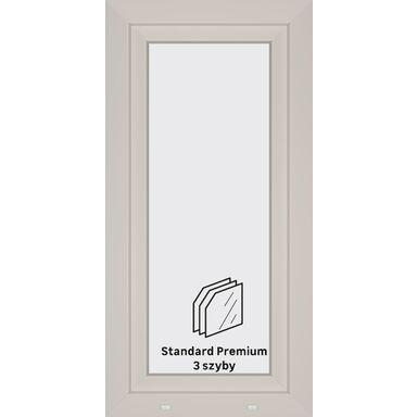 Okno PCV 3-szybowe O10 Białe 565 x 1135 mm