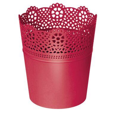 Osłonka plastikowa 13.5 cm różowa LACE 207C PROSPERPLAST