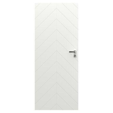 Skrzydło drzwiowe pełne bezprzylgowe Vector J Białe 60 Lewe Porta