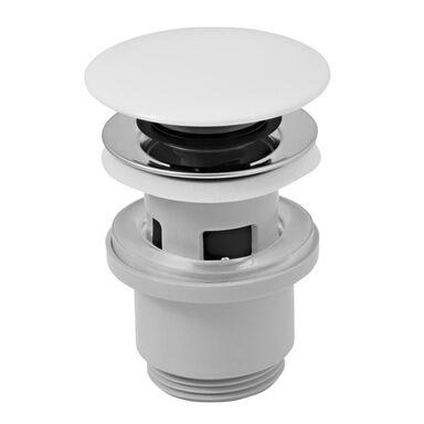 Zawór spustowy klik-klak z korkiem ceramicznym do umywalki z przelewem Klik-Klak FERRO
