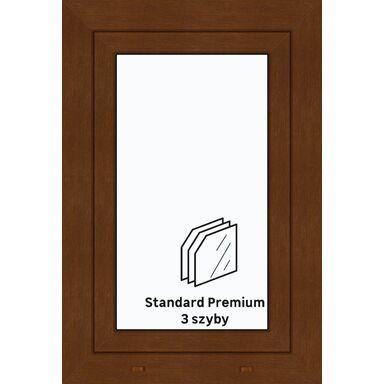 Okno PCV 3-szybowe O4 Złoty dąb 565 x 835 mm