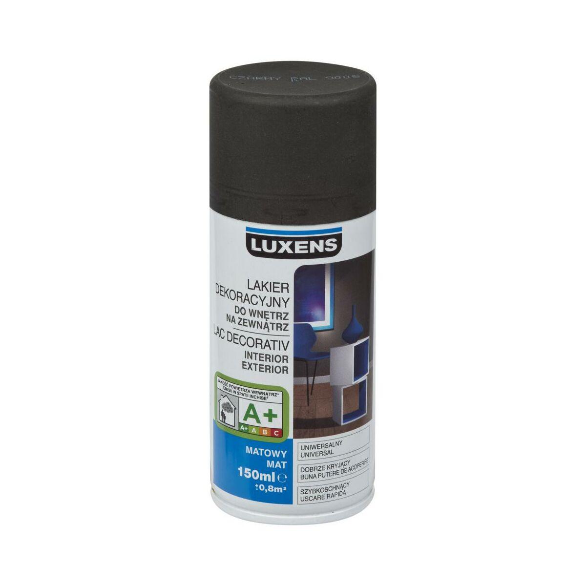 Spray Kolor 0 15 L Czarny Mat Luxens Spraye W Atrakcyjnej Cenie W Sklepach Leroy Merlin