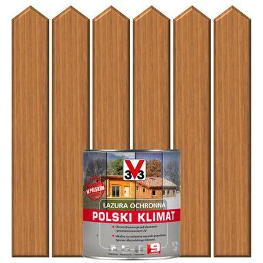 Lazura do drewna POLSKI KLIMAT 0,75 lDąb jasny V33