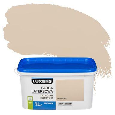 Farba wewnętrzna do ścian i sufitów EMULSJA 5 l Antyczny beż LUXENS