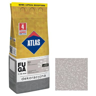 Fuga cementowa BROKATOWA 301  perła  2 kg ATLAS