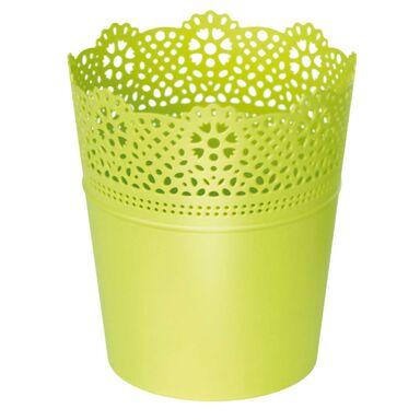 Osłonka plastikowa 16 cm zielona LACE 389U PROSPERPLAST