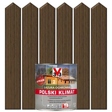 Lazura do drewna POLSKI KLIMAT 0,75 lDąb ciemny V33