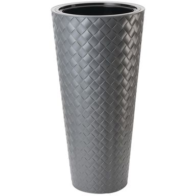 Doniczka plastikowa 30 cm szara MAKATA
