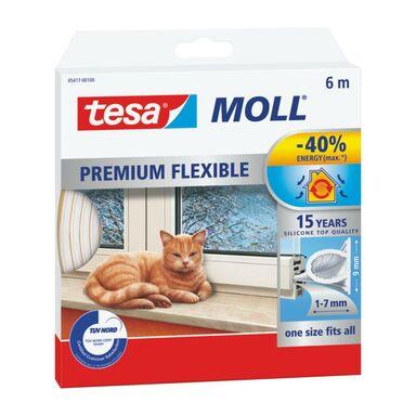 Uszczelka do drzwi i okien MOLL Profil Omega 6 m biała silikonowa TESA