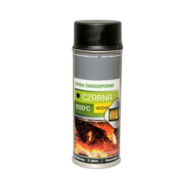 Farba wysokotemperaturowa CZARNA 600 STC 400 ml NORDFLAM