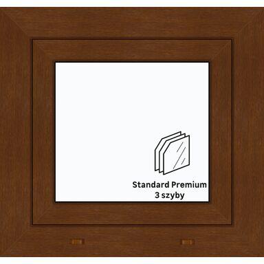 Okno PCV 3-szybowe O1 Złoty dąb 565 x 535 mm