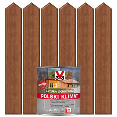 Lazura do drewna POLSKI KLIMAT 0,75 lMahoń V33