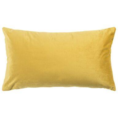 Poduszka welurowa TONY żółta 50 x 30 cm INSPIRE