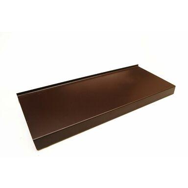 Parapet zewnętrzny stalowy brązowy 150x20x0.5 cm Domidor