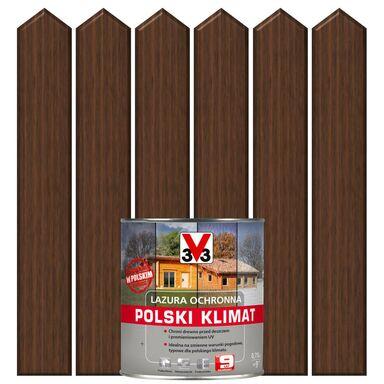 Lazura do drewna POLSKI KLIMAT 0,75 lOrzech ciemny V33