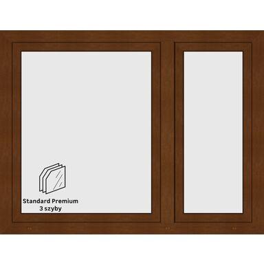 Okno PCV 3-szybowe O19 Złoty dąb 1465 x 1135 mm