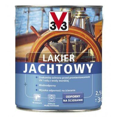 Lakier do drewna do malowania na zewnątrz JACHTOWY 0.75 l Bezbarwny V33