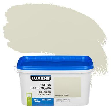 Farba wewnętrzna do ścian i sufitów EMULSJA 5 l Kremowe avocado LUXENS