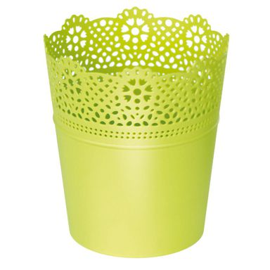 Osłonka plastikowa 18 cm zielona LACE 389U PROSPERPLAST