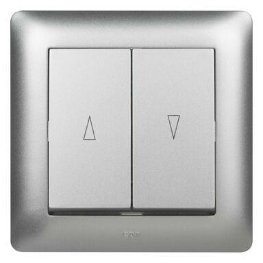 Wyłącznik żaluzjowy ASTORIA srebrny ELEKTRO-PLAST