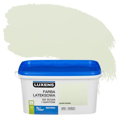 Farba wewnętrzna do ścian i sufitów EMULSJA 5 l Słodka wiosna LUXENS