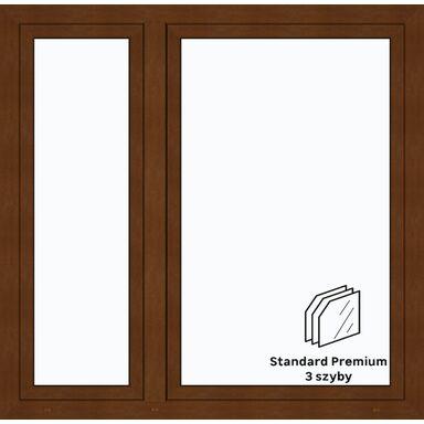 Okno PCV 3-szybowe O34 Złoty dąb 1465 x 1435 mm