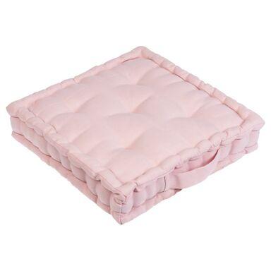 Siedzisko na podłogę ELEMA różowe 40 x 40 cm INSPIRE