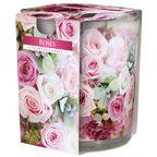 Świeca zapachowa w szkle Rose róża
