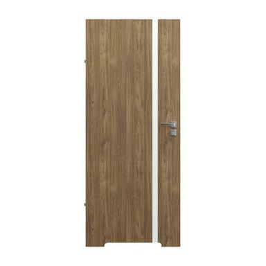 Skrzydło drzwiowe z podcięciem wentylacyjnym bezprzylgowe Focus 4A Orzech naturalny 80 Lewe Porta