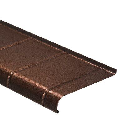 Parapet zewnętrzny stalowy miedź antyczna 120x20 cm Domidor