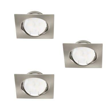 Zestaw opraw stropowych 3 szt. TRIBIS-L-C/M nikiel GU10 + LED KANLUX