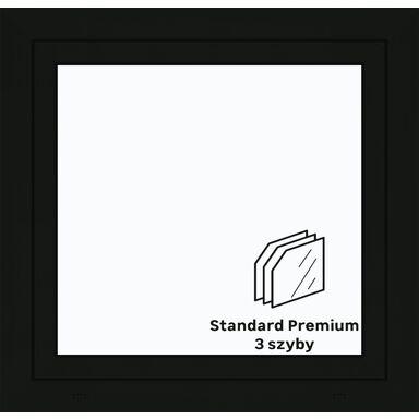 Okno PCV 3-szybowe O5 Antracyt 865 x 835 mm