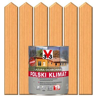 Lazura do drewna POLSKI KLIMAT 2,5 lSosna skandynawska V33