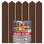 Lazura do drewna POLSKI KLIMAT 2.5 l Orzech ciemny V33