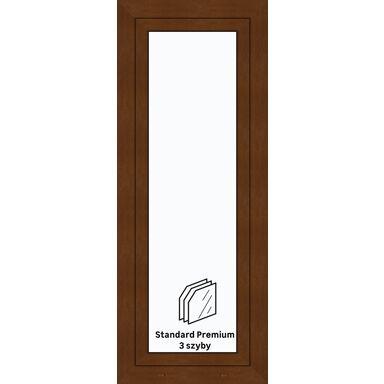 Okno PCV 3-szybowe O27 Złoty dąb 565 x 1435 mm